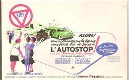 Buvard Edmond Dujardin Le Jeu Des Signaux Routiers L'AUTOSTOP - Stationeries (flat Articles)