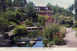 Rock Gardens And Tea House At Botanical Gardens - Hamilton - Ontario - Canada - Formato Grande Viaggiata – E 7 - Cartoline