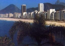 Rio De Janeiro - Brasil - Vista Panoramica Da Praia De Copacabana Com Seus Majestosos Predios - Formato Grande Viaggiata - Cartoline