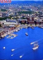 Oslo - Havneomradet Sett Fra Fly - Formato Grande Viaggiata – E 7 - Cartoline