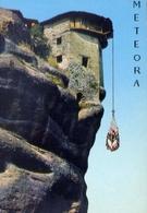 Meteora - Filet Ascenseur Du Monastere Varlaam - Formato Grande Non Viaggiata – E 7 - Mondo