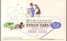 Buvard Edmond Dujardin Le Jeu De Société A BAGARRE STOCK-CARS - Stationeries (flat Articles)