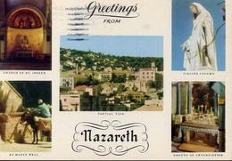 Greetings From Nazareth - Formato Grande Viaggiata – E 7 - Cartoline