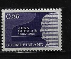 FINNLAND - Mi-Nr. 603 - 100. Geburtstag Von Jean Sibelius Postfrisch - Ungebraucht