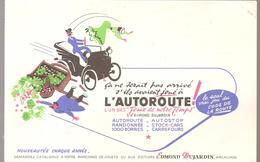 Buvard Edmond Dujardin Le Seul Vrai Jeu Du Code De La Route L'AUTOROUTE - Stationeries (flat Articles)