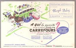 Buvard Edmond Dujardin Le Nouveau Jeu Des Priorités CARREFOURS Offert Par Royal Baby Calais - Stationeries (flat Articles)