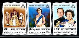 Bangladesh     Silver Jubilee   Set  SC# 123-25 - Bangladesh