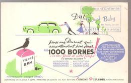 Buvard Edmond Dujardin 1000 Bornes Pense Aux Durant Offert Par Royal Baby Calais - Stationeries (flat Articles)