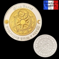 1 Pièce Plaquée OR Et ARGENT ( GOLD And SILVER Plated Coin ) - Tarot Divination Constellations - Altre Monete