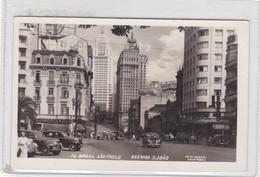 SAO PAULO. AVENIDA S JOAO. FOTO COLOMBO. CIRCULEE TO ITALIA. CIRCA 1940's TIMBRES ARRACHES- BLEUP - São Paulo