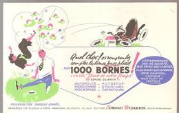 Buvard Edmond Dujardin 1000 Bornes Quel Choc! - Stationeries (flat Articles)