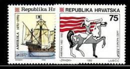 CROATIA 1992  MICHEL NO 209-210  MNH - 1992