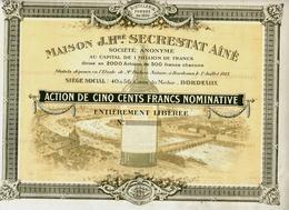 DISTILLERIE FONDEE EN 1851 DEVENUE MUSEE à BORDEAUX MAISON J.Hré Secrestat Ainé B.E.VOIR HISTORIQUE+SCANS - Landbouw