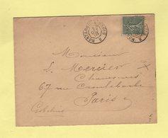 Ambulant De Jour - Montargis A Paris B - 3 Oct 1903 - Marcophilie (Lettres)