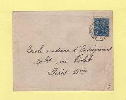 Ambulant De Jour - Granville A Paris 1° B - 15-9-1929 - Poste Ferroviaire