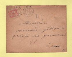 Besse Sur Braye - Sarthe - 28 Mai 1903 - Boite Urbaine B - 1877-1920: Période Semi Moderne
