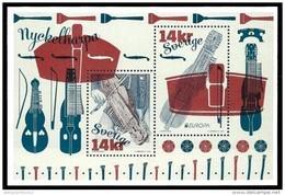 "SUECIA/ SWEDEN/ SUÈDE- EUROPA 2014-TEMA ANUAL "" INSTRUMENTOS MUSICALES NACIONALES""- HOJITA BLOQUE De 2 V. - Europa-CEPT"