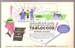 Buvard Edmond Dujardin TABLOCODE Permis Service Des  Examens - Stationeries (flat Articles)