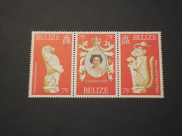 BELIZE - 1978 REGINA/STATUE 3 VALORI - NUOVI(++) - Belize (1973-...)