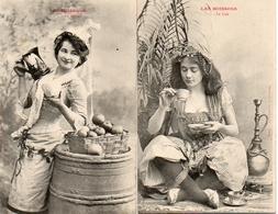 Bergeret 168 Femme Les Boissons X 2 Café Cidre - Bergeret