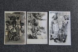 RUANDA - 3 Cartes : Danseurs, Femme Allaitant Et Jeunes Femmes - Ruanda-Urundi