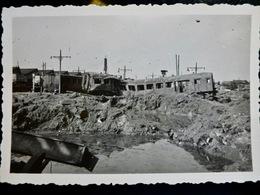 PHOTO Originale WW2 WWII : CREIL 1944 - TRAIN HS - Guerre, Militaire
