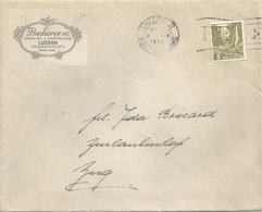 """Motiv Brief  """"Bucherer, Juwelier + Uhrmacher, Luzern""""         1938 - Briefe U. Dokumente"""