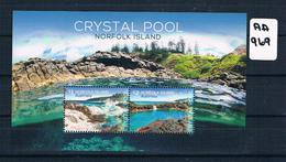 Australia/norfolk Isl 2018 Crystal Pool 2val M/s Muh AA969 - Norfolk Island