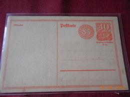Entier Postal D Allemagne - Deutschland