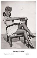 BETTY GRABLE - Film Star Pin Up PHOTO POSTCARD - 98-211 Swiftsure Postcard - Postales