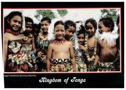 (201) Kingdom Of Tonga Childrens Postcard - Tonga