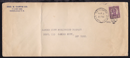 U.S. T.P. SEA POST S.S. PRES. HOOVER NOV 9 1932/?? (Duplex-Stempel) Auf Brief  - Timbres
