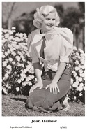 JEAN HARLOW - Film Star Pin Up PHOTO POSTCARD - 6-361 Swiftsure Postcard - Postales