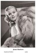 JEAN HARLOW - Film Star Pin Up PHOTO POSTCARD - 6-390 Swiftsure Postcard - Postales