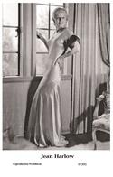 JEAN HARLOW - Film Star Pin Up PHOTO POSTCARD - 6-391 Swiftsure Postcard - Postales