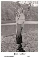 JEAN HARLOW - Film Star Pin Up PHOTO POSTCARD - 6-392 Swiftsure Postcard - Postales