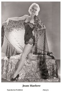 JEAN HARLOW - Film Star Pin Up PHOTO POSTCARD - P942-1 Swiftsure Postcard - Postales
