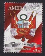 Peru 2010 UPAEP, Simbolos Patrios, Escudo, V2, Used - Peru