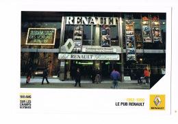 RENAULT - 100 ANS SUR LES CHAMPS -ELYSEES-Le PUB Renault -Cinéma - Scans Recto Verso - Paypal Free - Voitures De Tourisme