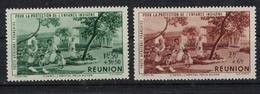 REUNION       N°  YVERT  :    PA 7/8     NEUF AVEC  CHARNIERES      (  CH 25  ) - Réunion (1852-1975)