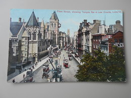 ANGLETERRE LONDON FLEET STREET SHOWING TEMPLE BAR & LAW COURTS - London