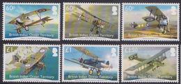 British Indian Ocean First World War Aircraft In British Service 6v MNH 2016 - Territoire Britannique De L'Océan Indien