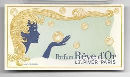 Ancienne Carte Parfumée REVE D'OR De LT Piver - Perfume Cards