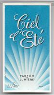 Ancienne Carte Parfumée CIEL D'ETE De LT Piver - Perfume Cards
