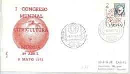 POSTMARKET ESPAÑA 1973 MURCIA   CITRUS - Agricultura