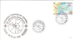 POSTMARKET ESPAÑA  1987 - Tratado Antártico