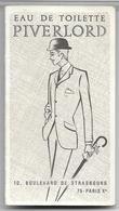 Ancienne Carte Parfumée Et Calendrier De 1969 PIVERLORD De LT Piver Offert Par PALUMBO Saint Etienne - Perfume Cards