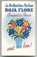 Ancienne Carte Parfumée BOUQUET FLEURS De Roja Flore - Perfume Cards