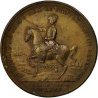 Allemagne, Médaille, Frédérich II, Bataille De Rosbach, 1757, TTB+, Bronze - Allemagne