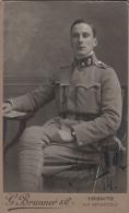 Kabinett Fotokarte Von Ital. Soldat 1914 - Fotograph In Trento - G. Brunner - Trento